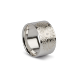 Beacon Silver and Diamond Band in Silver by Corey Egan