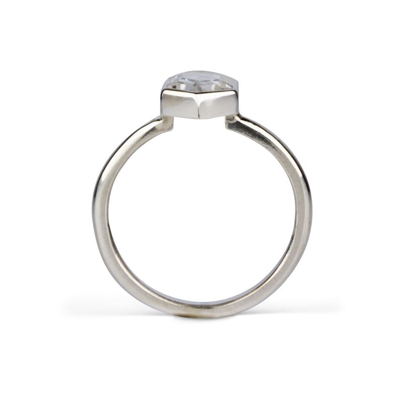 Quartz Silver Hexagon Sutro Ring | Corey Egan