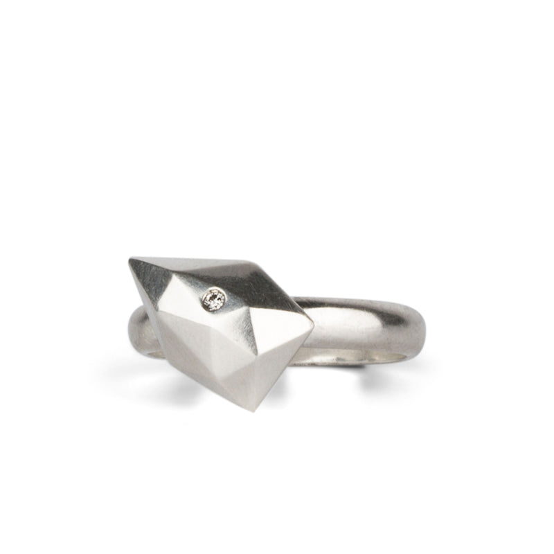 Angled Fragment Diamond Ring by Corey Egan