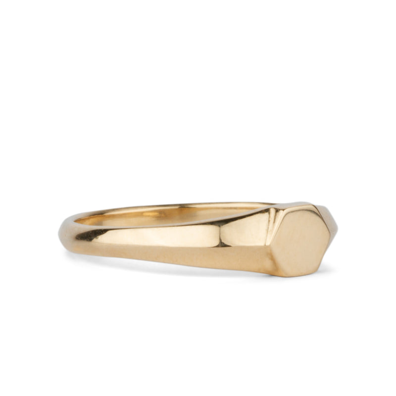 Astra Gold Signet Ring by Corey Egan