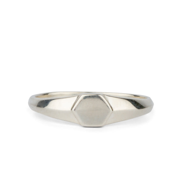 Astra Silver Signet Ring