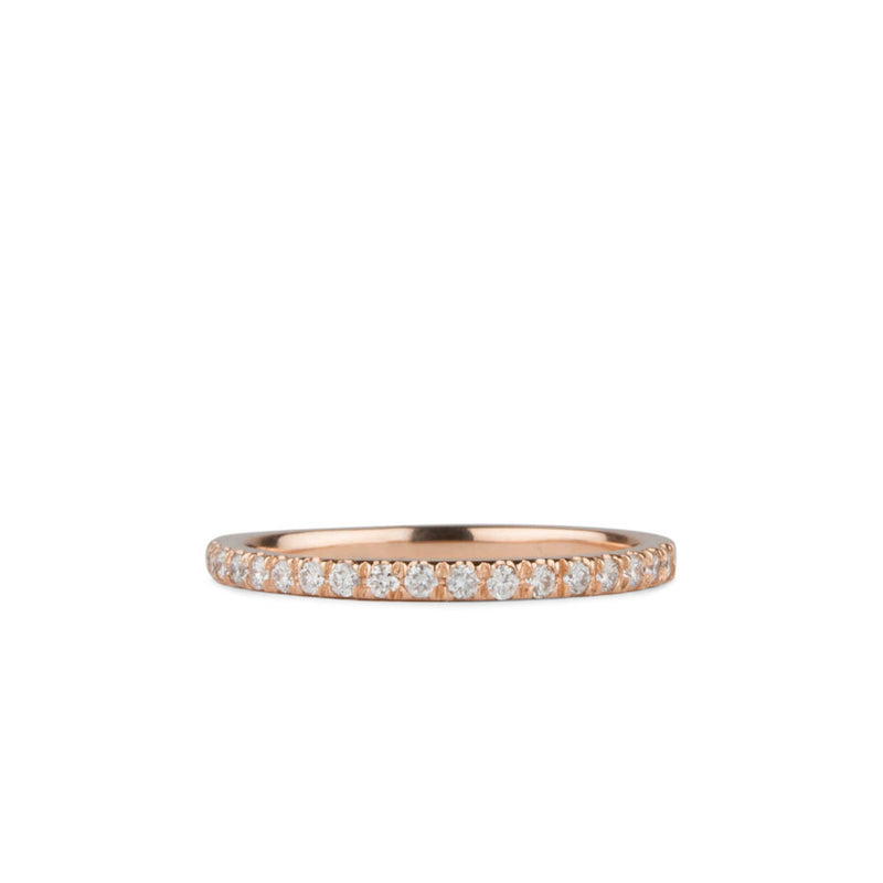 Bryce White Diamond Prong Set Half Eternity Band in Rose Gold | Corey Egan
