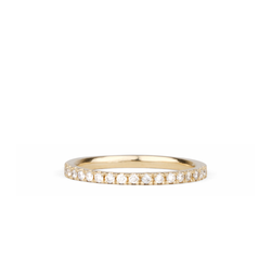 Bryce White Diamond Prong Set Half Eternity Band in Yellow Gold | Corey Egan