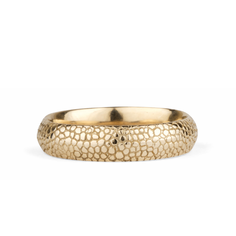 14k yellow gold Cascades Ring by Corey Egan