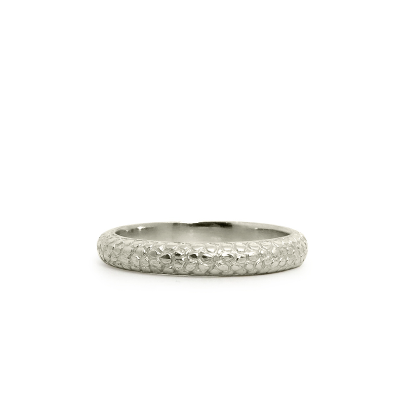 14k white gold Cascades Ring by Corey Egan