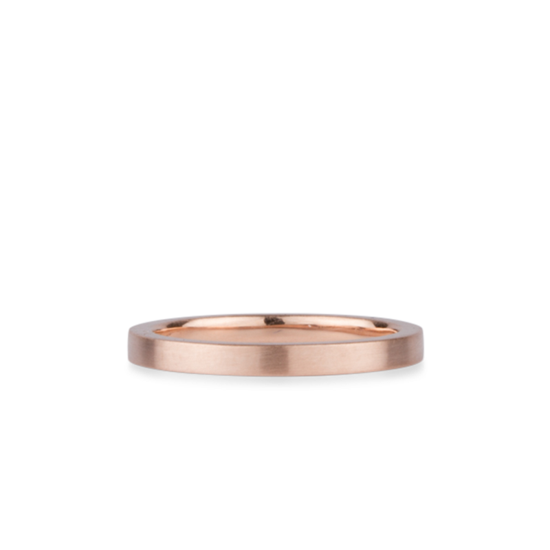 14k rose gold flat Diablo Band by Corey Egan
