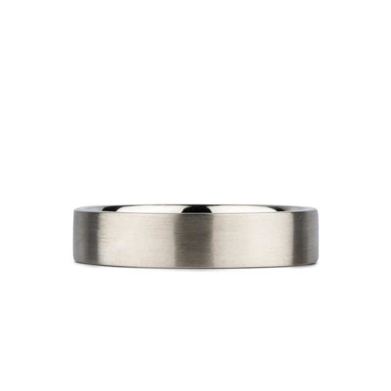 14k white gold flat Diablo Band by Corey Egan