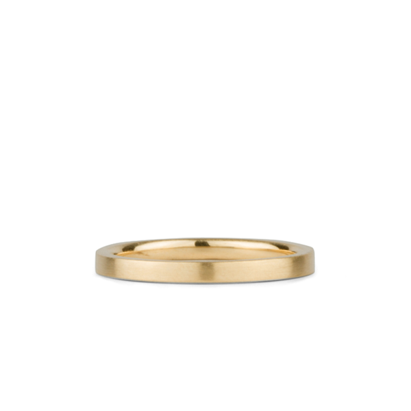 14k yellow gold flat Diablo Band by Corey Egan