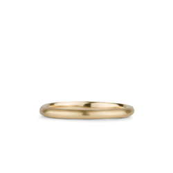 14k yellow gold half round Diablo Band by Corey Egan
