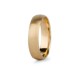 Yellow Gold Diablo Half Round Brushed Band 5mm wide by Corey Egan