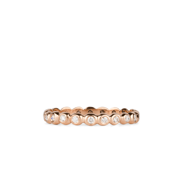 White Diamond Droplet Band in Rose Gold | Corey Egan