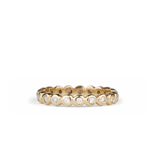 White Diamond Droplet Band in Yellow Gold | Corey Egan