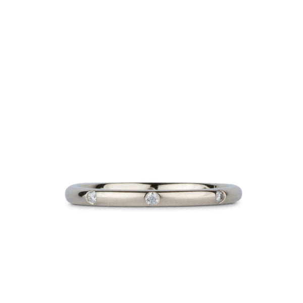 Lassen Half Round Diamond Band