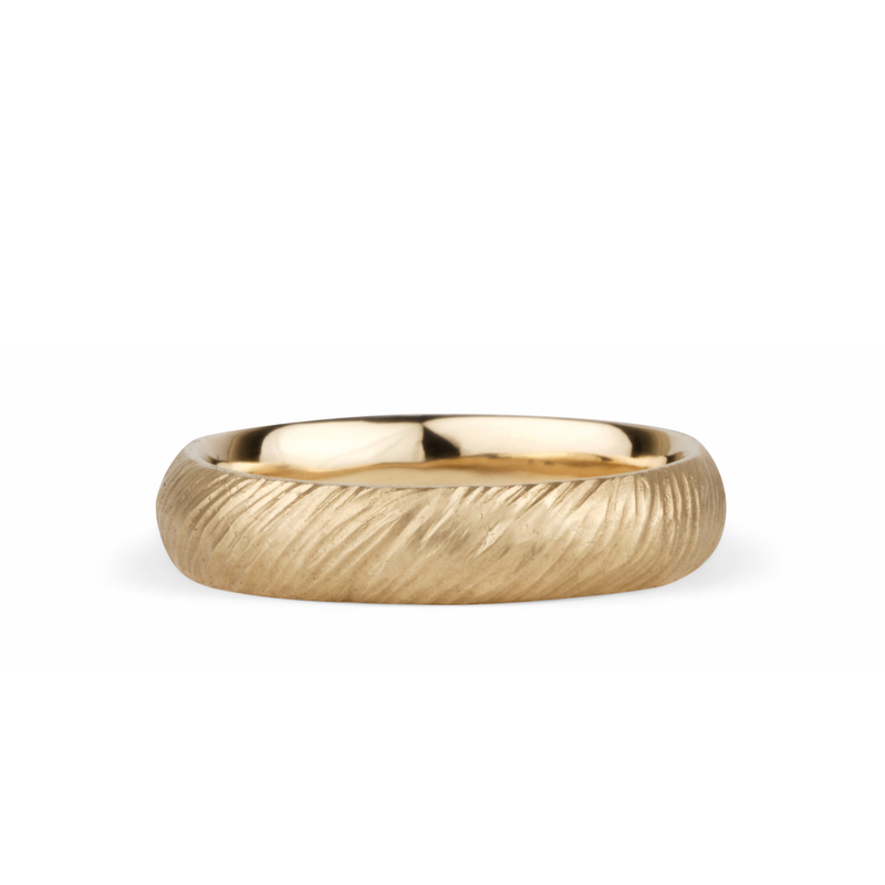14k yellow gold Mackinac Band by Corey Egan