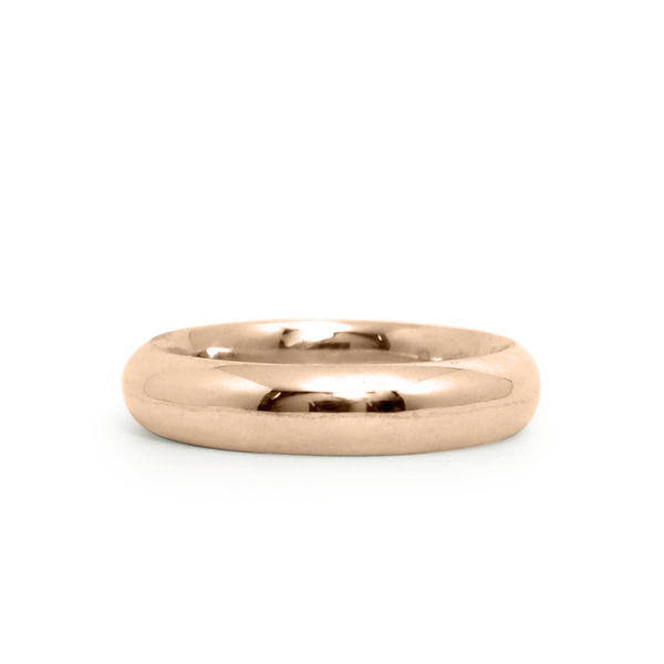 14k rose gold half round Muir Band by Corey Egan