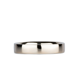 4mm 14k White Gold Flat Polished Muir Band by Corey Egan