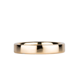 4mm 14k Yellow Gold Flat Polished Muir Band by Corey Egan