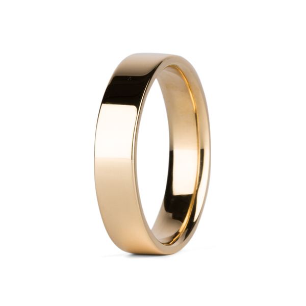 5mm 14k Yellow Gold Flat Polished Muir Band by Corey Egan