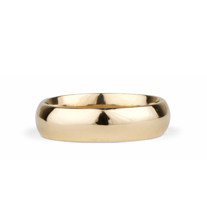 14k yellow gold half round Muir Band by Corey Egan