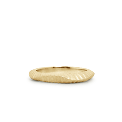 14k yellow gold Napali Band by Corey Egan