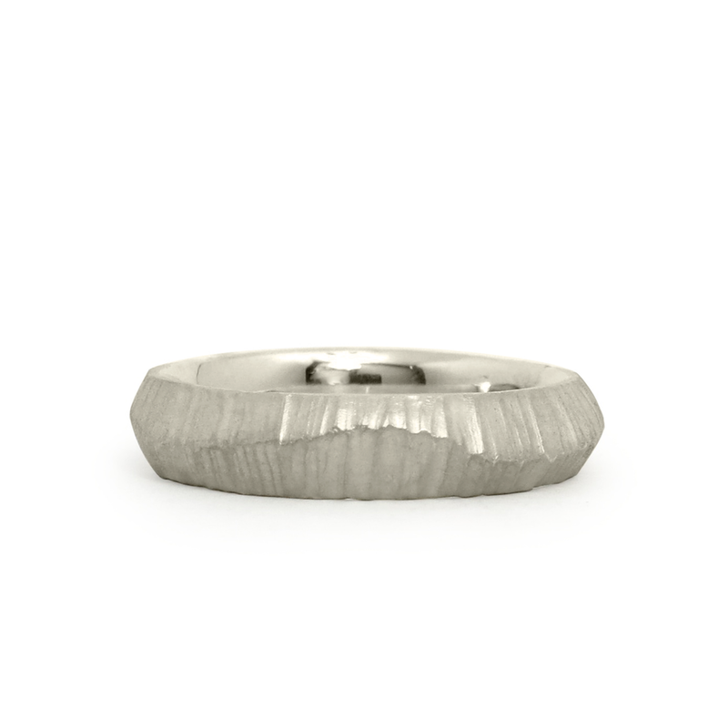 14k white gold Napali Band by Corey Egan