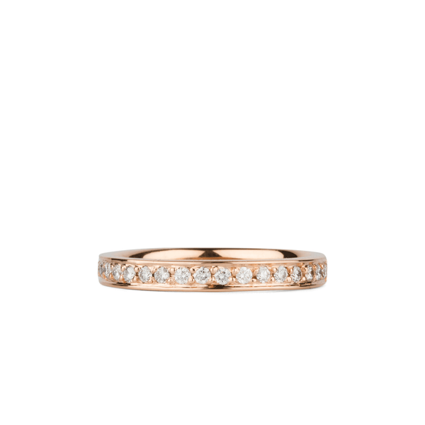 Paria Large White Diamond Pave Set Half Eternity Band in Rose Gold | Corey Egan