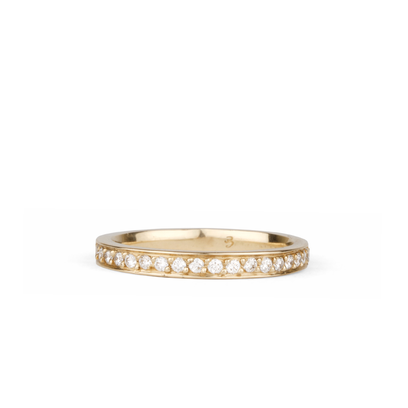 Paria Large White Diamond Pave Set Half Eternity Band in Yellow Gold | Corey Egan
