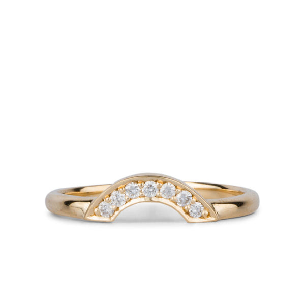 White Diamond Small Pavé Arch Band