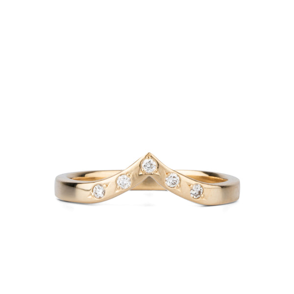 Pinnacles White Diamond Peaked Band by Corey Egan
