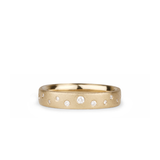 Tioga Scattered White Diamond Band in Yellow Gold | Corey Egan