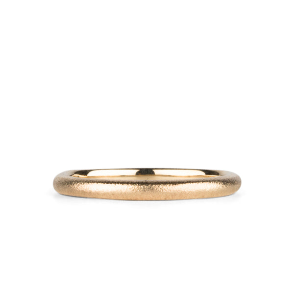 Yosemite Half Round Band in Rose Gold by Corey Egan