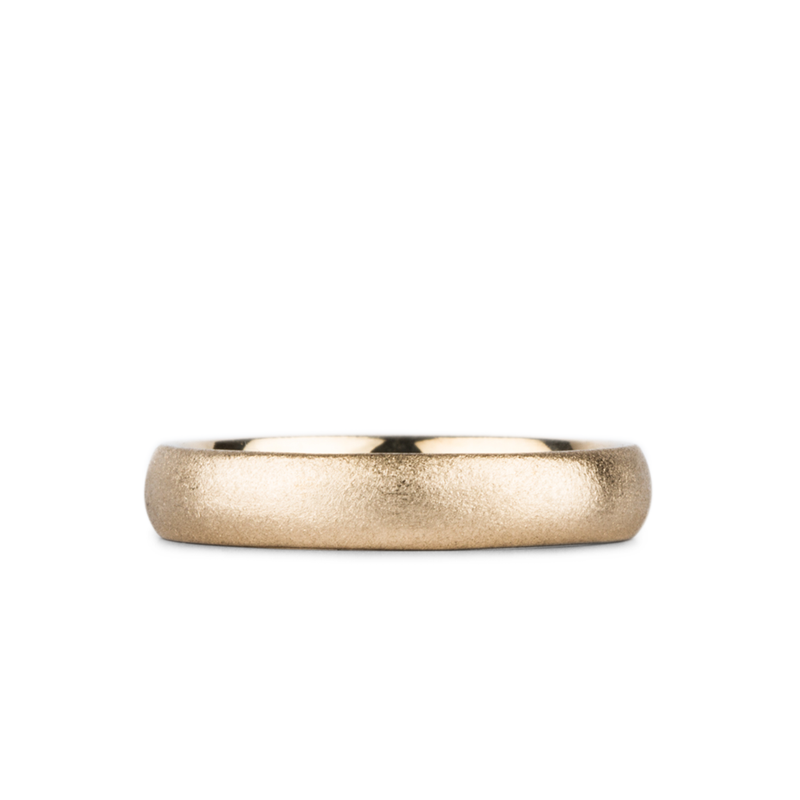 Yosemite Half Round Band 14k Yellow Gold 4mm wide by Corey Egan
