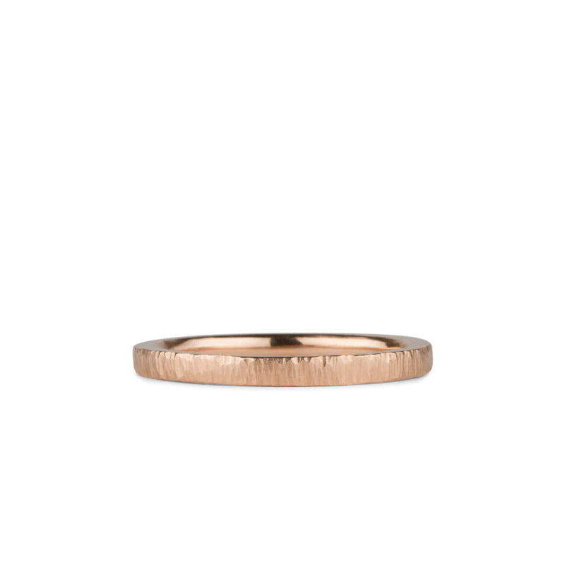14k rose gold flat Zion Band by Corey Egan