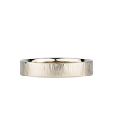 14k white gold Zion Band 4mm Wide by Corey Egan