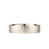 14k white gold Zion Band 5mm wide by Corey Egan