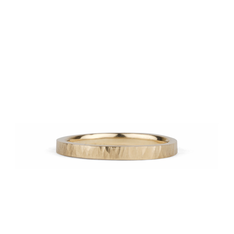 14k yellow gold flat Zion Band by Corey Egan