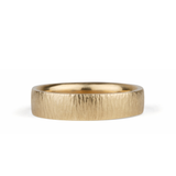 Zion Hammered 14k Yellow Gold Band by Corey Egan