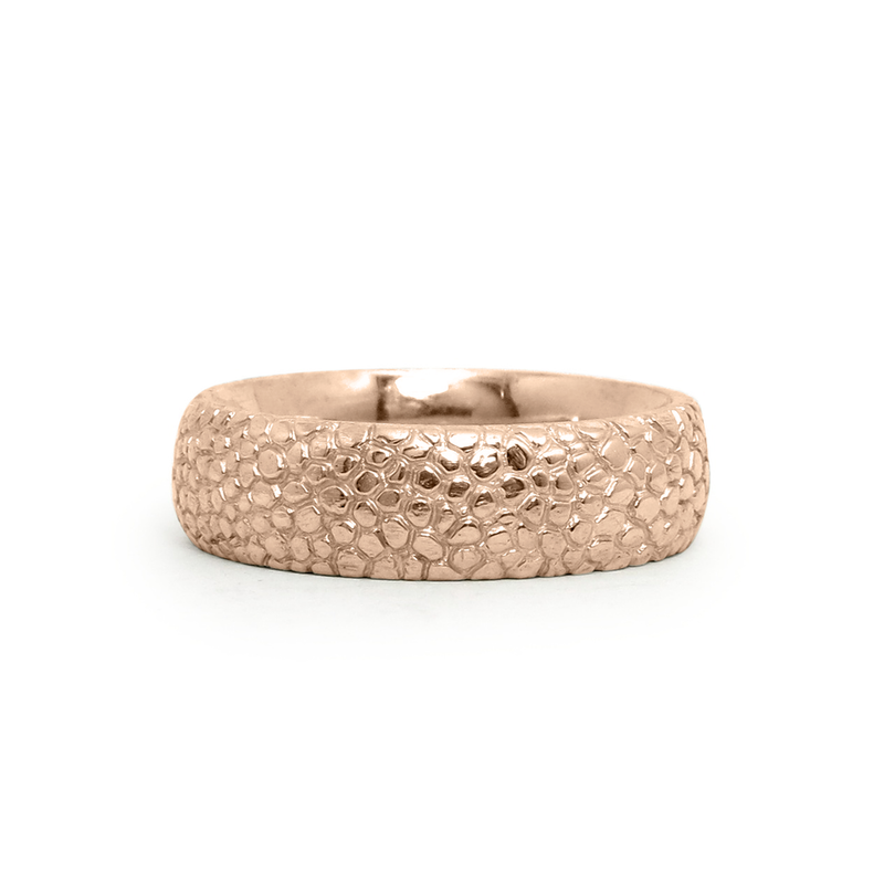 14k Rose Gold Cascades Ring by Corey Egan