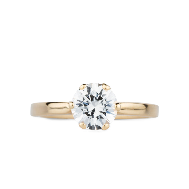 Anna White Sapphire 6 Prong Solitaire by Corey Egan