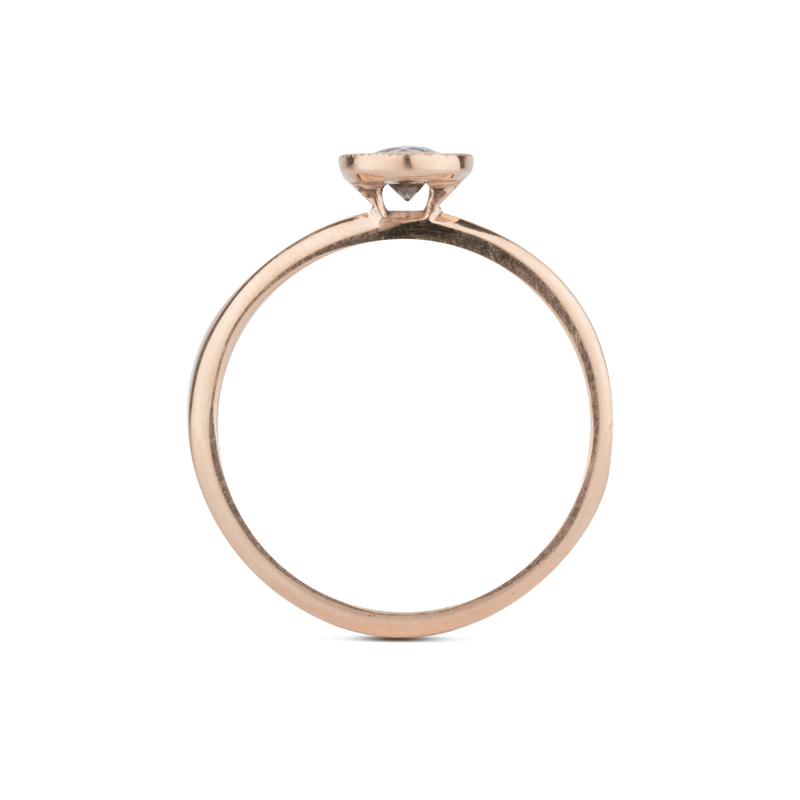 Small Aurora Pink Sapphire Ring in 14k Rose Gold by Corey Egan