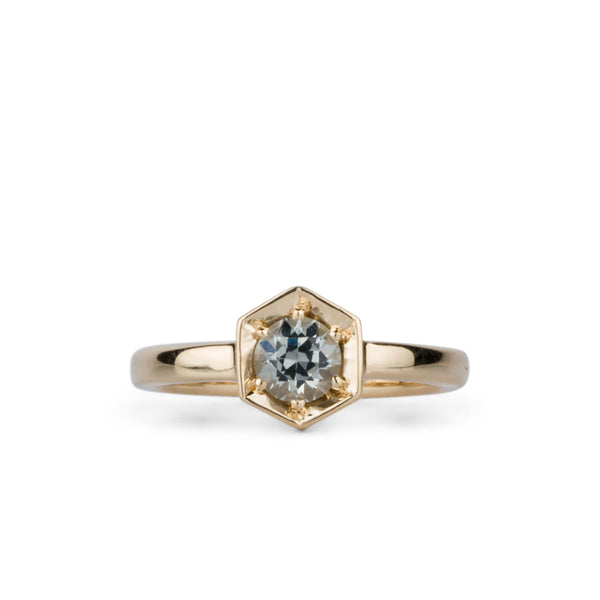 Issa Ring with Silver Montana Sapphire by Corey Egan