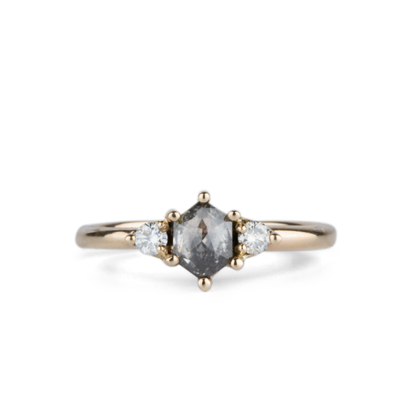 Lenox Salt and Pepper Diamond Ring by Corey Egan