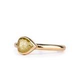 Light Green Rose Cut Diamond Sutro Ring by Corey Egan