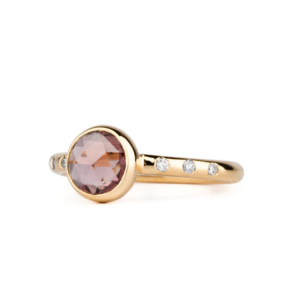 Sutro Peach Rose Cut Ring by Corey Egan