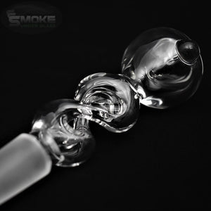 Clear Twist 14mm Bowl by Glassheads