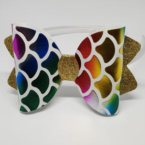 4.25 Inch Ava Rainbow Mermaid Headbands