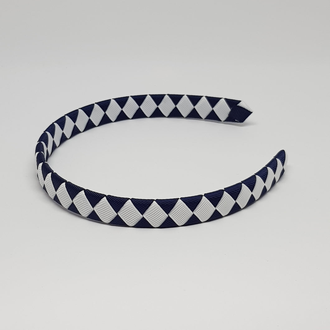 1/2 Inch Woven Headband - 2 Colours - Navy
