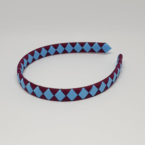 1/2 Inch Woven Headband - 2 Colours - Wine