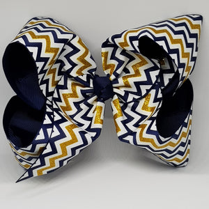 8 Inch Boutique Bow - Chevron