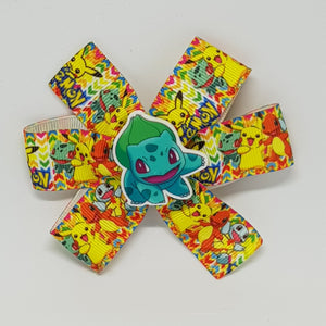 3.5 Inch Pinwheel Bow - Pokemon
